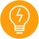 bulb, energy, flash, idea, light, light bulb, thunder