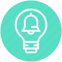 alert, bell, bulb, energy, idea, light, light bulb icon