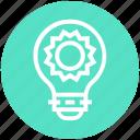 brightness, bulb, energy, idea, light, light bulb, sun icon