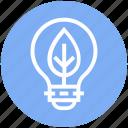 bulb, energy, idea, leave, light, light bulb, nature icon