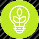 bulb, energy, idea, leaves, light, light bulb, nature icon