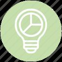 bulb, chart, diagram, energy, idea, light, light bulb icon