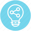 analytics, bulb, energy, graph, idea, light, light bulb icon