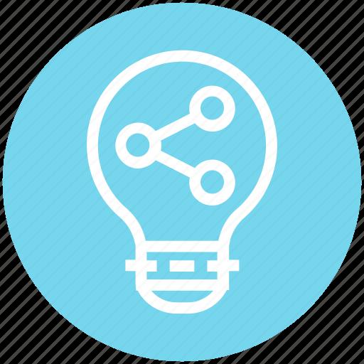 analytics, bulb, energy, graph, idea, light, light bulb icon