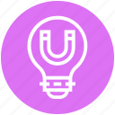bulb, energy, idea, light, light bulb, magnet, snap