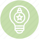 ball, bulb, energy, idea, light, light bulb, ornament icon