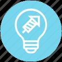 bulb, energy, fireworks, idea, light, light bulb, rocket icon