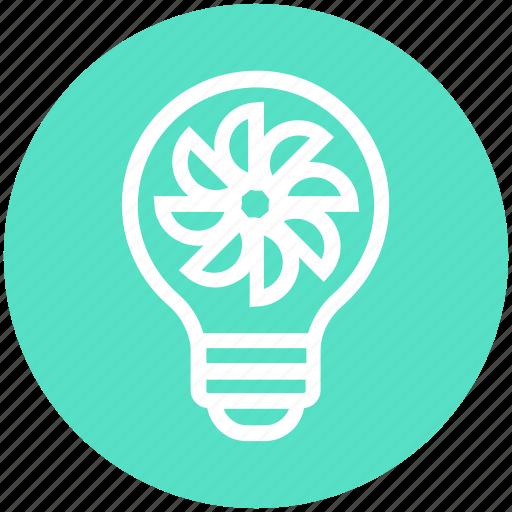 bulb, energy, flower, idea, light, light bulb, plant icon
