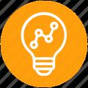 bulb, chart, energy, graph, idea, light, light bulb icon