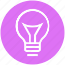 bulb, creativity, energy, idea, lamp, light, light bulb icon