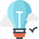 air, balloon, bulb, idea, imagination, inspiration, light icon