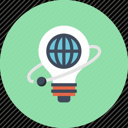 Bulb, globe, idea, imagination, light, world icon - Download on Iconfinder