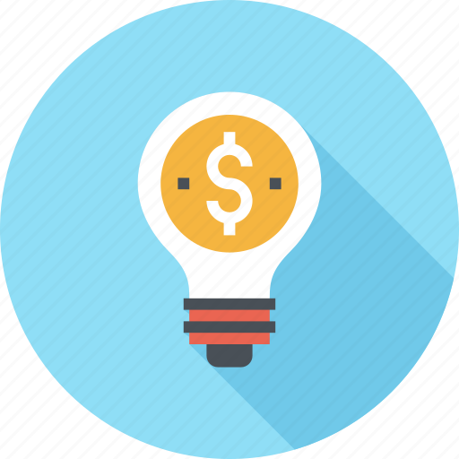 Bulb, business, dollar, finance, idea, light, money icon - Download on Iconfinder
