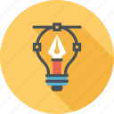 bulb, design, draw, idea, imagination, inspiration, light icon