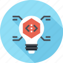 bulb, code, coding, idea, light, program, programming icon