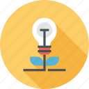 bulb, ecology, energy, green, light, nature, plant icon