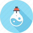 bulb, idea, imagination, light, research, science, tube icon