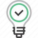 bulb, energy, good, idea, imagination, inspiration, light icon