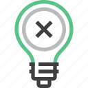 bad, bulb, energy, idea, imagination, inspiration, light icon