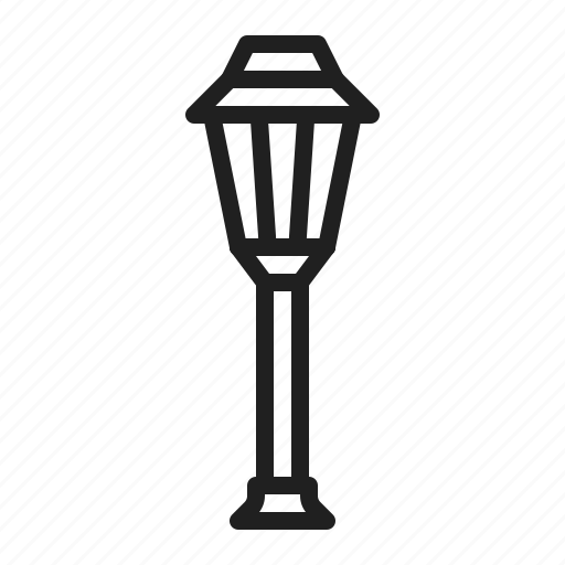 lamp, light, outdoor icon