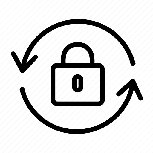 change, decryption, encrypt, lock, login, password, protect, protection, recovery, switch, syncronize icon