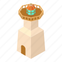 beacon, isometric, light, lighthouse, navigation, object, tower