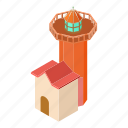 beacon, house, isometric, light, lighthouse, object, tower