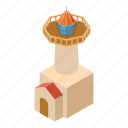 beacon, coast, isometric, light, lighthouse, object, tower