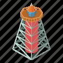 beacon, isometric, light, lighthouse, modern, object, tower