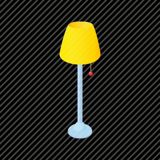 cartoon, floor, home, interior, lamp, light, long icon