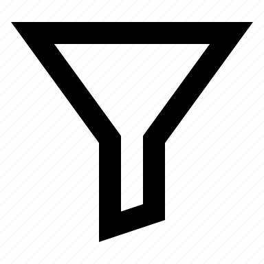 filter, funnel, sort icon