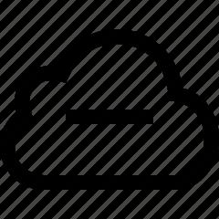 cloud, minus, remove icon