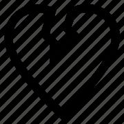 broken, dislike, hate, heart icon