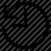 arrow, back, clock, history, revert, rewind, time icon
