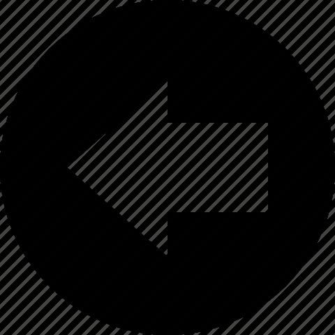 arrow, back, circle, left icon
