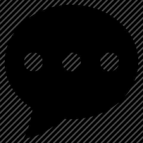 bubble, chat, comment, communication, message, more, talk icon