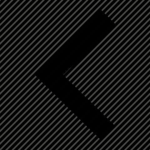 arrow, back, chevron, direction, left, move, previous icon