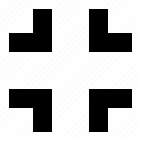 arrows, collapse icon