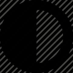 adjust, black, contrast, white icon