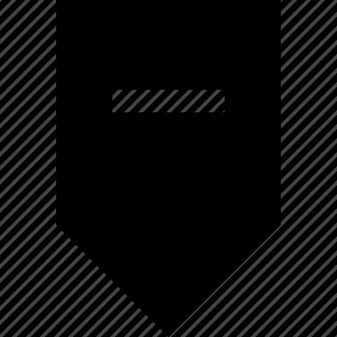 decrease, down, minus, tab icon