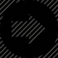 arrow, circle, forward icon