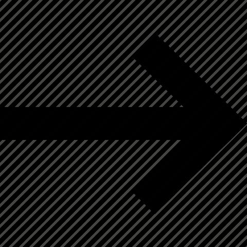 arrow, direction, forward, move, right icon