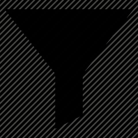 filter, funnel, order, sort, sorting icon