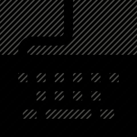 keyboard, keys, type icon