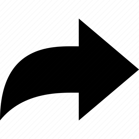 arrow, forward, mail icon