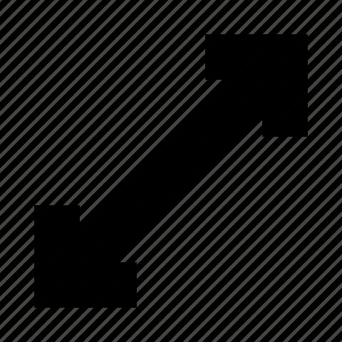 arrow, maximize, zoom in icon