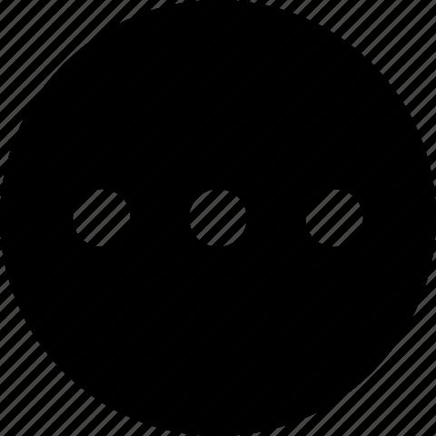 circle, info, menu, more, options icon