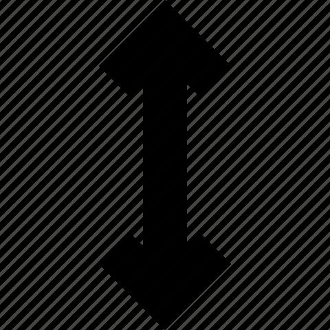 arrow, move, vertical icon