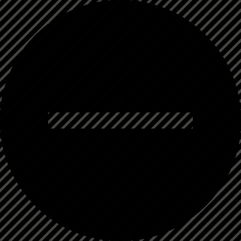 circle, close, delete, minus, remove icon