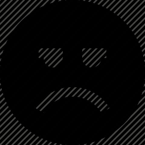 bad, emoticon, face, sad, smiley icon